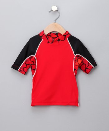 Sea Monster Red Onshore Rashguard - Infant & Toddler