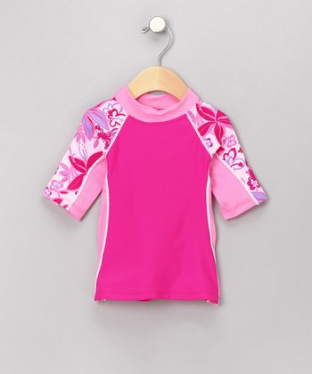 Raspberry Seaside Rashguard - Infant & Toddler
