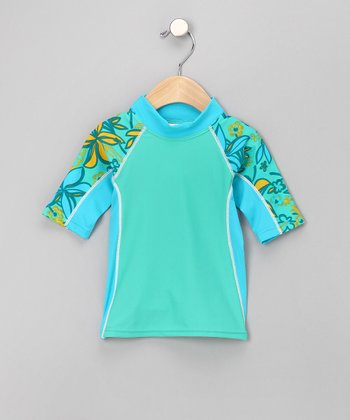 Lemon Lime Seaside Rashguard - Infant, Toddler & Girls