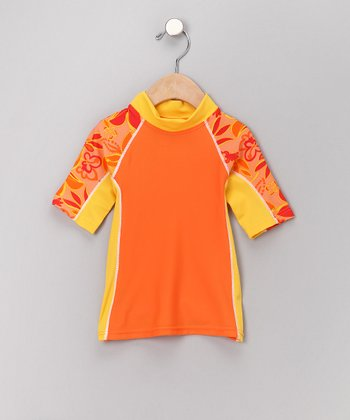 Orange Seaside Rashguard - Toddler