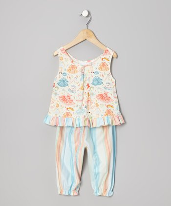 Vintage Paper Dolls Top & Pants - Infant