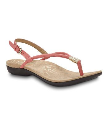 Coral & Gold Accomplish Sandal