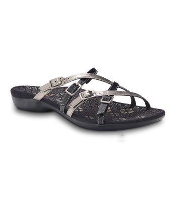 Black Inspire Leather Sandal