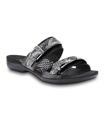 Black Mystic Leather Sandal