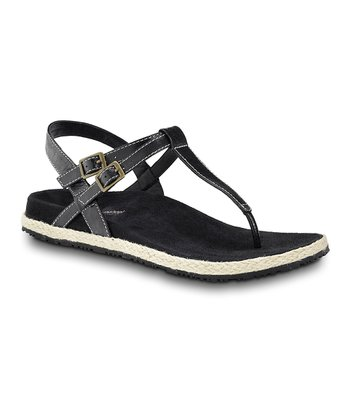 Black Renew Leather Sandal