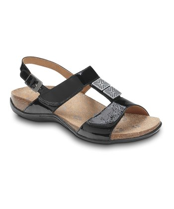 Black Leather Sonora Sandal