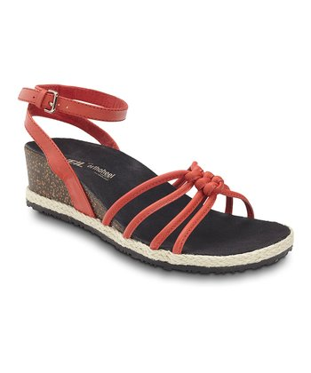 Red Serenity Leather Sandal