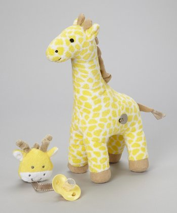 Giraffe Wind-Up Plush Toy & Pacifier Clip