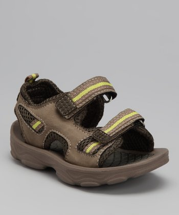 Brown & Green Bobby-C Sandal