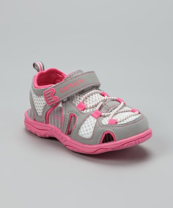 Pink & Gray Storm-G Closed-Toe Sandal