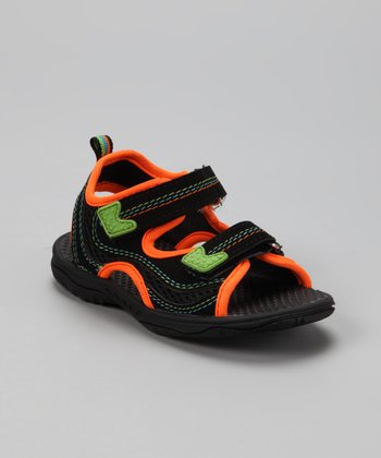 Black & Orange Surfer Sandal