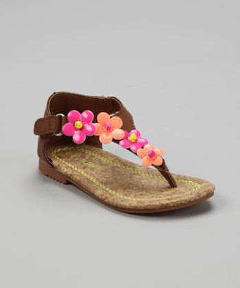 Brown & Coral Yesse Sandal