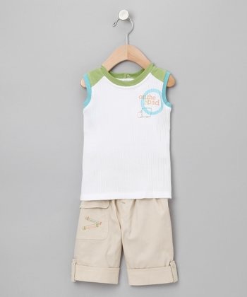 Tan 'On the Road' Shorts Outfit - Infant