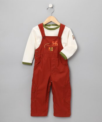 Rust Racer Overalls Outfit - Infant