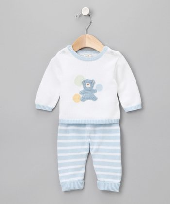 Light Blue Bear Sweater Outfit - Infant