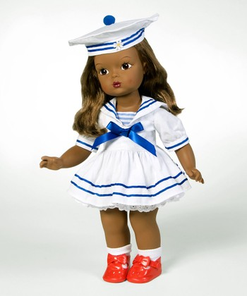 Dark Brown-Haired Summer by the Sea 15'' Doll