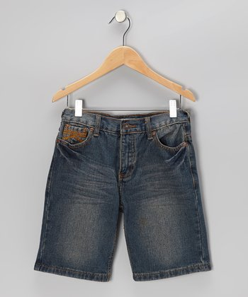 Desert Indigo Wash Denim Shorts - Boys