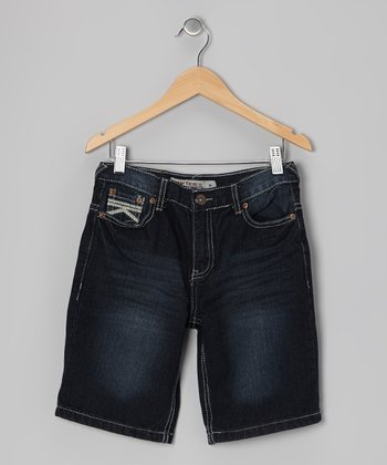 Super Dark Wash Denim Shorts - Boys
