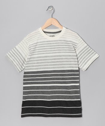 True Black Reversed Stripe Tee - Boys