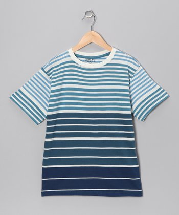 Twilight Reversed Stripe Tee - Boys