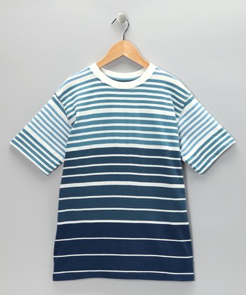 Twilight Stripe Crewneck Tee - Boys
