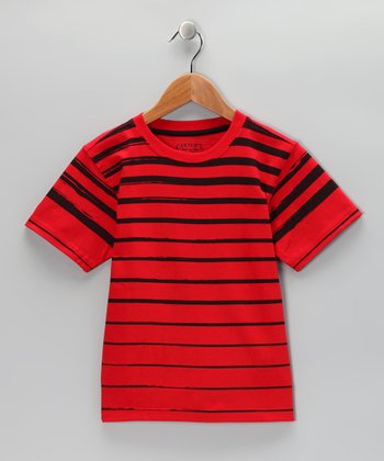 Red Blaze Stripe Tee - Toddler & Boys