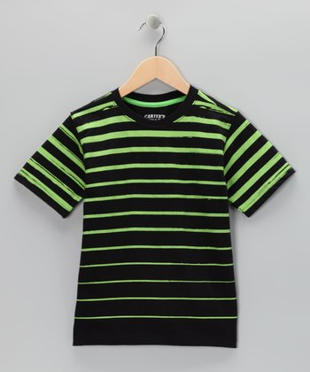 True Black Stripe Tee - Toddler & Boys