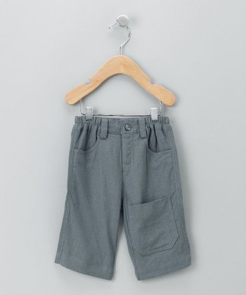 Gray Ziggy Linen Cropped Pants - Infant, Toddler & Boys