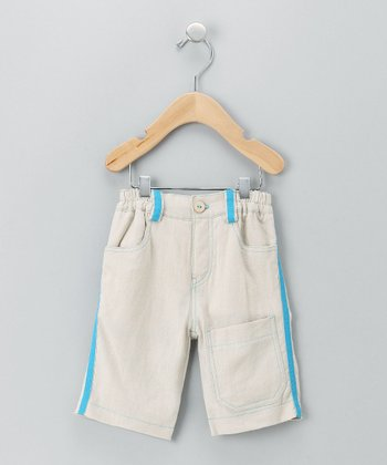 Natural Ziggy Linen Cropped Pants - Infant, Toddler & Boys