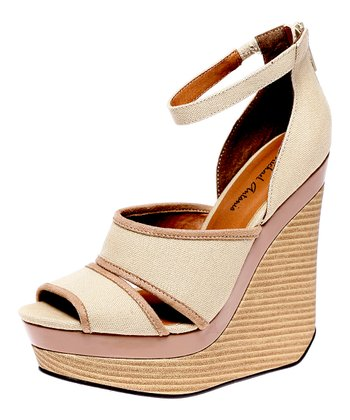 Natural Alex Wedge Sandal