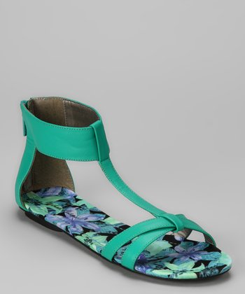 Teal Dancy Sandal