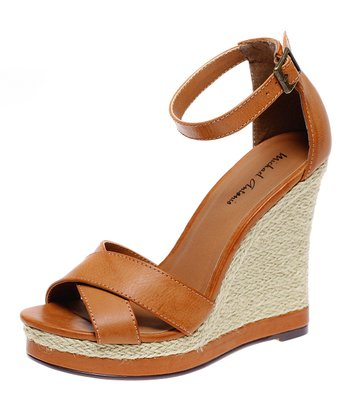 Tan Geisa Wedge Sandal