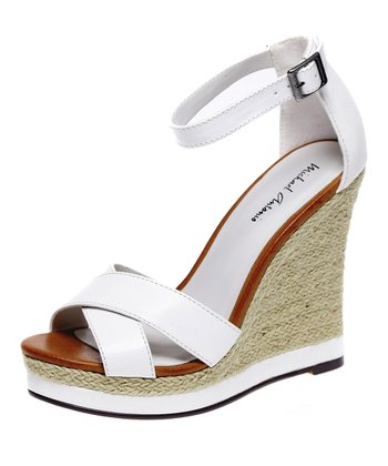 White Geisa Wedge Sandal