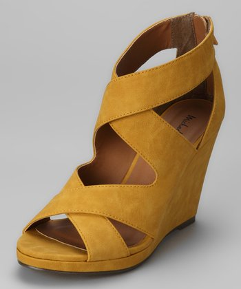 Mustard Gracey Wedge Sandal