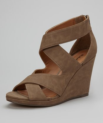 Taupe Gracey Wedge Sandal
