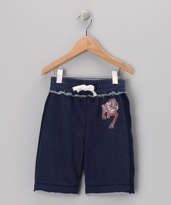 Indigo French Terry Pull-On Shorts - Infant & Boys