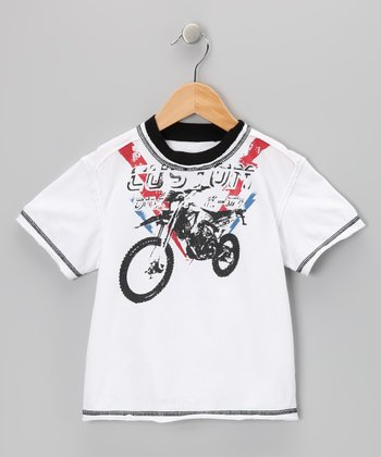 White Bike Washed Tee - Toddler & Boys