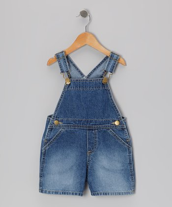 Denim Blue Shortalls - Infant
