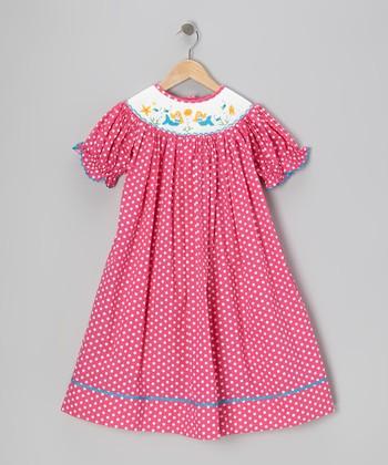 Pink Mermaid Bishop Dress - Toddler