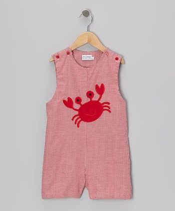 Red Crab Shortalls - Infant & Toddler