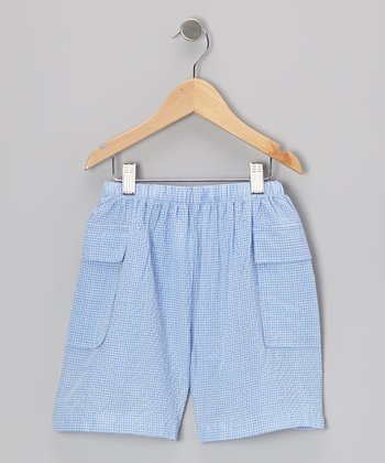 Light Blue Cargo Shorts - Infant & Toddler