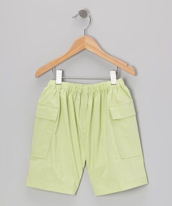 Lime Green Cargo Shorts - Infant & Toddler