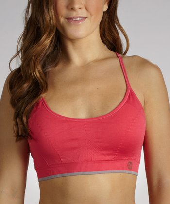 Poppy Red Medium-Impact Seamless Sports Bra