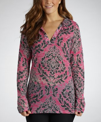 Fuchsia High Society Hooded Top
