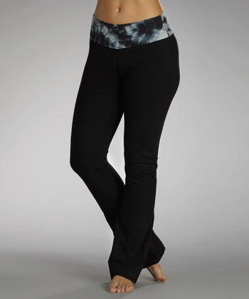 Black & White Glam Factor Flat-Waist Pants