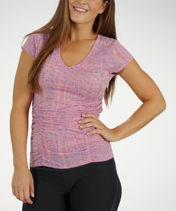 Sugar Ray Ornamental Cosmo Ruched Slimming Tee