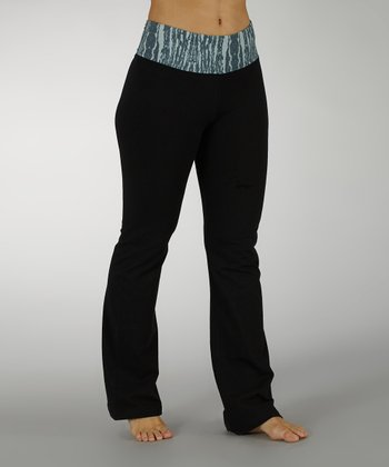 Smoke Pearl Ornamental Cosmo Tummy Control Yoga Pants - Women