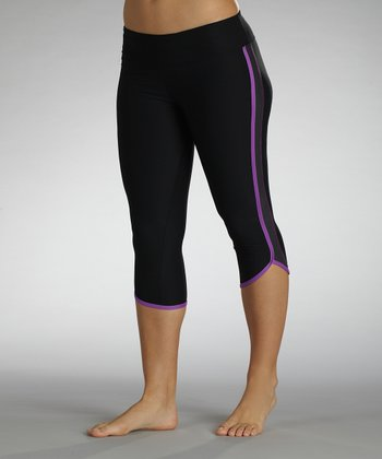 Sorbet Purple Electric Shades Dolphin Capri Leggings