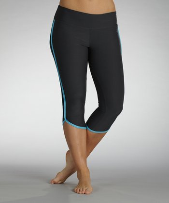 Aquarius Electric Shades Dolphin Capri Leggings