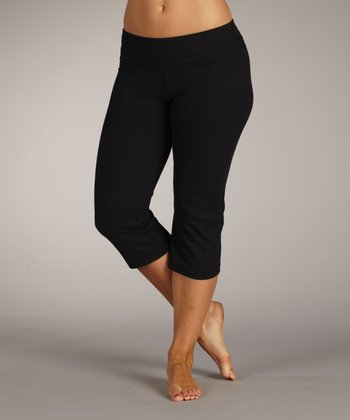 Black Platinum Capri Pants